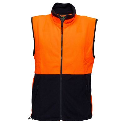 Image for PRIME MOVER MF114 HI VIS POLAR FLEECE VEST 2 TONE from Aztec Office National