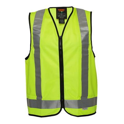 Image for PRIME MOVER MV188 HI VIS DAY/NIGHT USE VEST CROSS BACK TAPE from OFFICE NATIONAL CANNING VALE, JOONDALUP & OFFICE TOOLS OPD