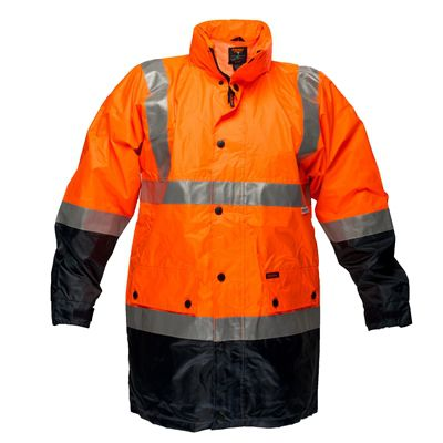 Image for PRIME MOVER MJ306 LIGHTWEIGHT HI VIS JACKET WITH TAPE WATERPROOF DAY/NIGHT 2 TONE from Office National Capalaba