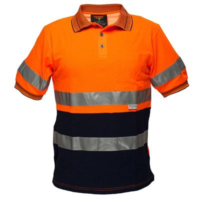Image for PRIME MOVER MP310 HI VIS COTTON POLO SHIRT WITH TAPE SHORT SLEEVE 2 TONE from OFFICE NATIONAL CANNING VALE, JOONDALUP & OFFICE TOOLS OPD