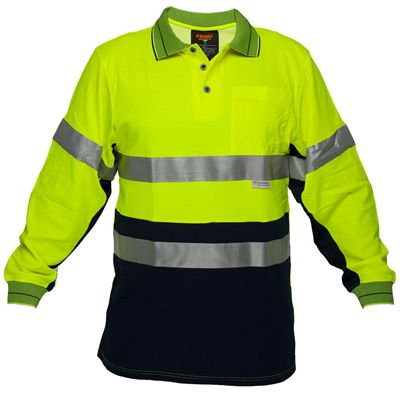 Image for PRIME MOVER MP313 HI VIS COTTON POLO SHIRT WITH TAPE 2 TONE from OFFICE NATIONAL CANNING VALE, JOONDALUP & OFFICE TOOLS OPD