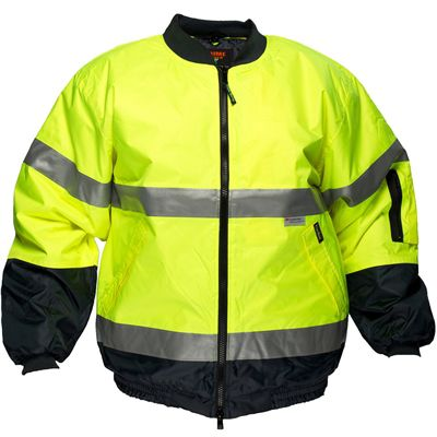 Image for PRIME MOVER HV504 DAY/NIGHT HI VIS WATERPROOF BOMBER JACKET WITH ZIP 2 TONE from Ezi Office Supplies Gold Coast