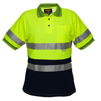Image for PRIME MOVER MP510 HI VIS POLO SHIRT MICRO MESH SHORT SLEEVE TAPE 2 TONE from Office National Capalaba