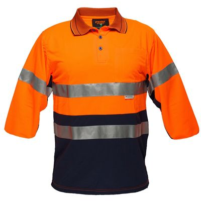 Image for PRIME MOVER MP513 HI VIS POLO SHIRT MICRO MESH WITH TAPE 2 TONE from Paul John Office National