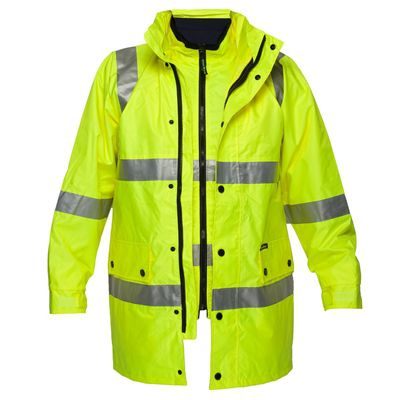 Image for PRIME MOVER MJ883 DAY/NIGHT HI VIS 4-IN-1 TAPE ZIP JACKET FULL COLOUR from Office National Capalaba