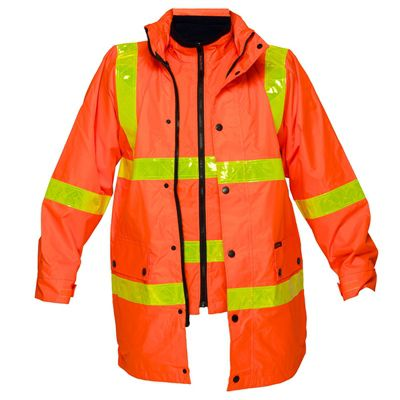 Image for PRIME MOVER MJ885 DAY/NIGHT HI VIS 4-IN-1 JACKET WITH MICRO PRISM TAPE FULL COLOUR from Office National Capalaba