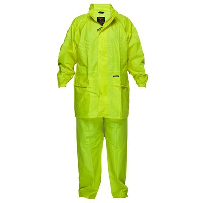 Image for PRIME MOVER MS939 HI VIS WET WEATHER JACKET AND PANT SUIT YELLOW MEDIUM from Office National Port Augusta