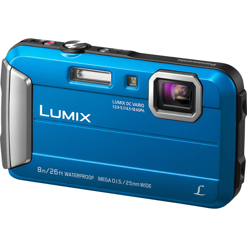 Image for PANASONIC DMC-FT30 LUMIX DIGITAL TOUGH CAMERA BLUE from OFFICE NATIONAL CANNING VALE, JOONDALUP & OFFICE TOOLS OPD
