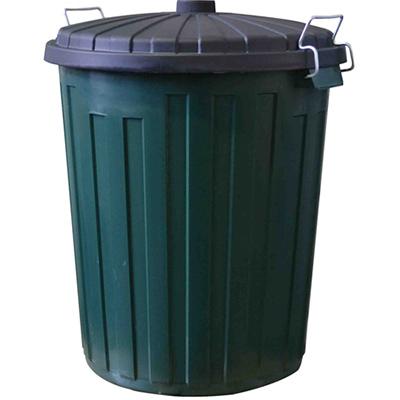 Image for ITALPLAST GARBAGE BIN HEAVY DUTY PLASTIC WITH LID 75 LITRE from Ezi Office National Tweed