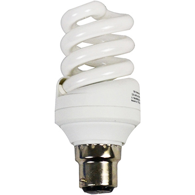 Image for ITALPLAST ENERGY SAVING LAMP BULB SPIRAL 20W BAYONET PLUG WARM WHITE from Office National Capalaba