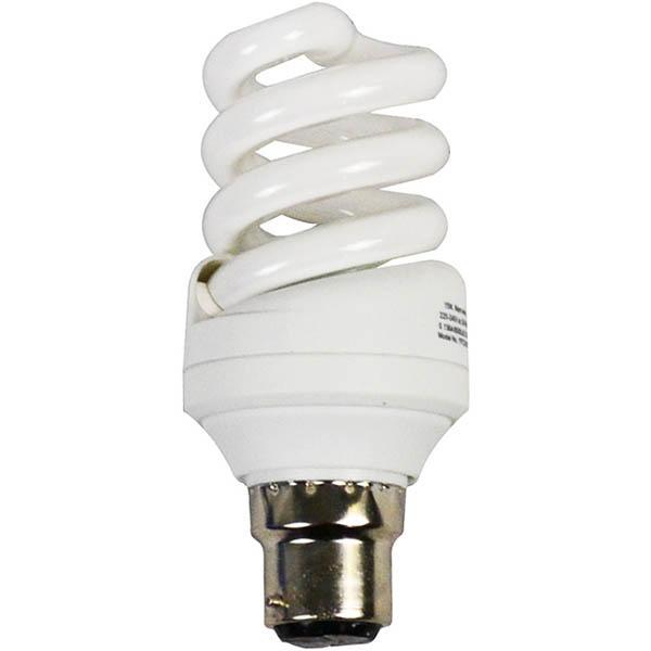 Image for ITALPLAST ENERGY SAVING LAMP BULB SPIRAL 25W BAYONET PLUG WARM WHITE from Office National Capalaba