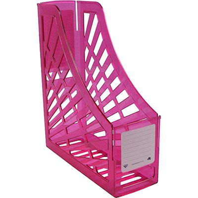 Image for ITALPLAST MAGAZINE STAND TINTED PINK from Mackay Business Machines (MBM)