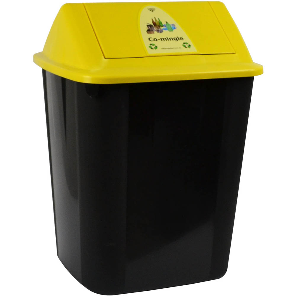 Image for ITALPLAST WASTE SEPARATION BIN WITH SWING TOP LID 32 LITRE CO-MINGLE from The Paper Bahn Office National