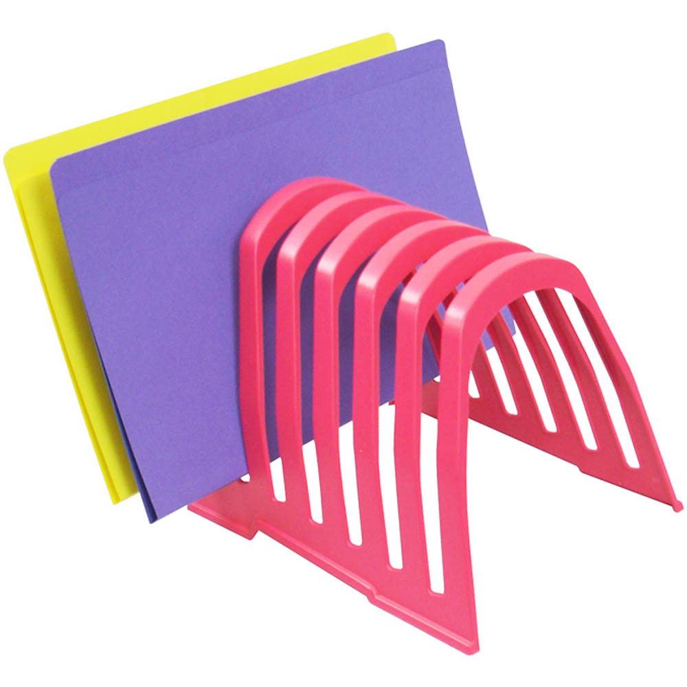 Image for ITALPLAST PLASTIC STEP FILE ORGANISER WATERMELON from Mackay Business Machines (MBM)