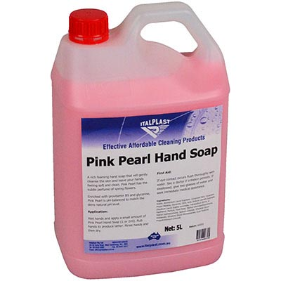 Image for ITALPLAST PINK PEARL LIQUID HAND SOAP 5 LITRE BOTTLE from Office National Capalaba