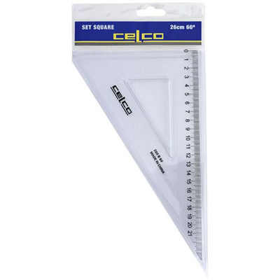 Image for CELCO SET SQUARE 60 DEGREES 260MM from Our Town & Country Office National