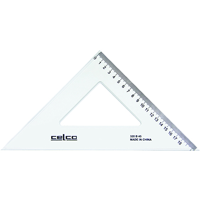 Image for CELCO SET SQUARE 45 DEGREES 320MM from Our Town & Country Office National