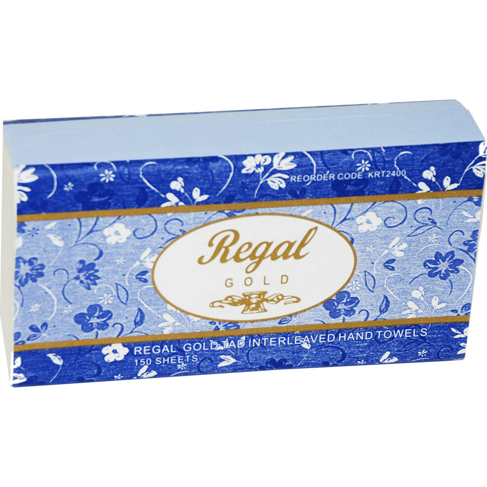 Image for REGAL GOLD TAD ULTRASLIM INTERLEAVED HAND TOWEL 240 X 210MM PACK 150 from City Stationery Office National