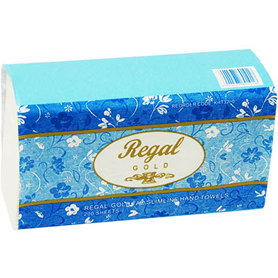 Image for REGAL GOLD TAD SLIMLINE INTERLEAVED HAND TOWEL 25 X 210MM PACK 200 from City Stationery Office National