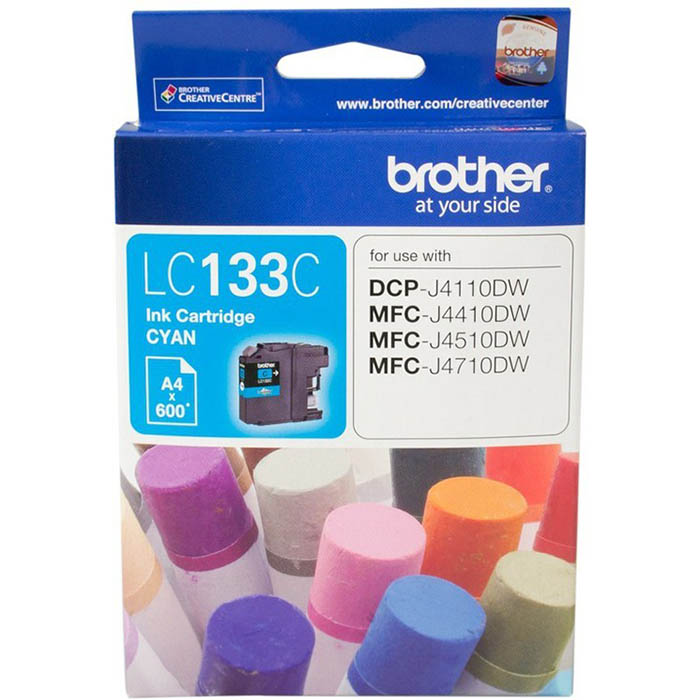Image for BROTHER LC133C INK CARTRIDGE CYAN from Office National Hobart