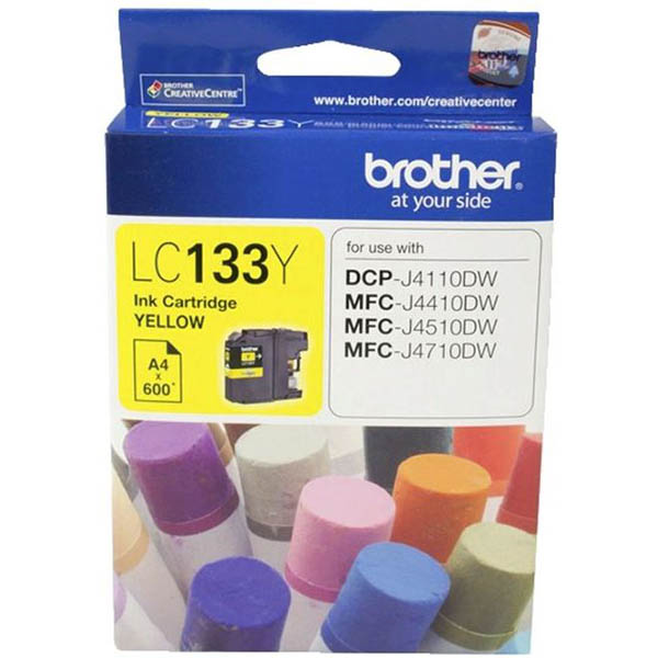 Image for BROTHER LC133Y INK CARTRIDGE YELLOW from Office National Hobart
