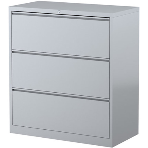 Image for STEELCO LATERAL FILING CABINET 3 DRAWER 1015 X 915 X 463MM SILVER GREY from OFFICE NATIONAL CANNING VALE, JOONDALUP & OFFICE TOOLS OPD