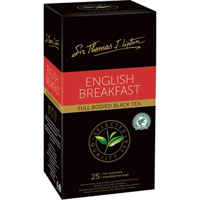 Image for SIR THOMAS LIPTON ENVELOPE TEA BAGS ENGLISH BREAKFAST PACK 25 from Office National Capalaba