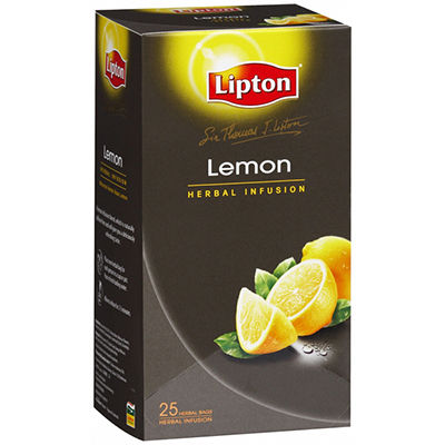 Image for SIR THOMAS LIPTON ENVELOPE TEA BAGS LEMON PACK 25 from Our Town & Country Office National