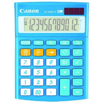 Image for CANON LS120VIIB MINI DESKTOP CALCULATOR BLUE from Office National Capalaba