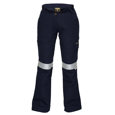Image for PRIME MOVER ML709 LADIES COTTON DRILL CARGO PANTS WITH TAPE from Office National Limestone Coast