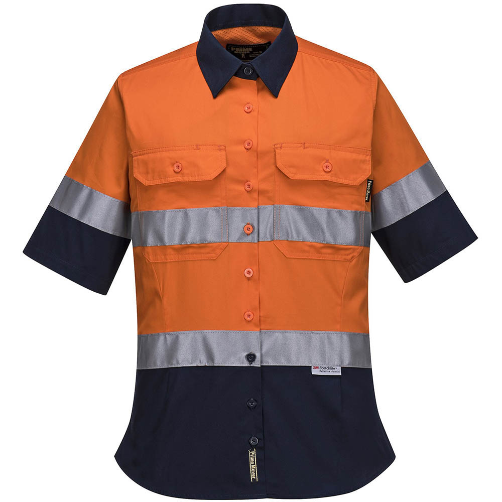 Image for PRIME MOVER ML109 LADIES COTTON DRILL SHIRT 2 TONE 3M TAPE from OFFICE NATIONAL CANNING VALE, JOONDALUP & OFFICE TOOLS OPD