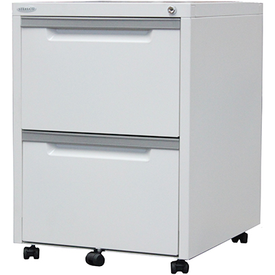 Image for STEELCO CLASSIC MOBILE PEDESTAL 2 FILE 630 X 470 X 515MM WHITE SATIN from OFFICE NATIONAL CANNING VALE, JOONDALUP & OFFICE TOOLS OPD