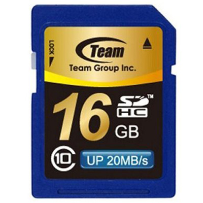 Image for TEAM GROUP MEMORY CARD SDHC CLASS 10 16GB from OFFICE NATIONAL CANNING VALE, JOONDALUP & OFFICE TOOLS OPD