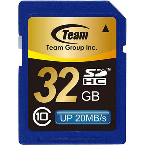 Image for TEAM GROUP MEMORY CARD SDHC CLASS 10 32GB from OFFICE NATIONAL CANNING VALE, JOONDALUP & OFFICE TOOLS OPD