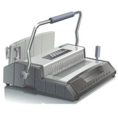 Image for QUPA S600 MANUAL BINDING MACHINE PLASTIC/WIRE COMB GREY from City Stationery Office National