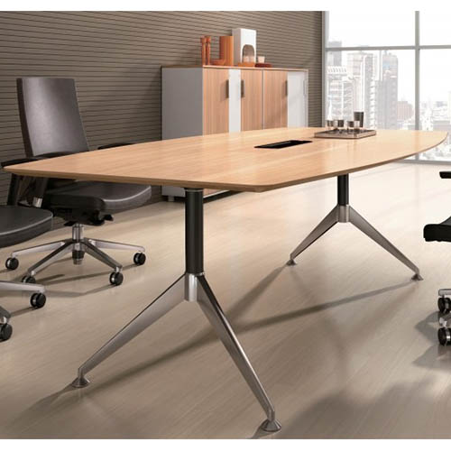 Image for POTENZA BOARDROOM TABLE CABLE BOX 2400 X 1200 X 750MM VIRGINIA WALNUT MELAMINE from City Stationery Office National