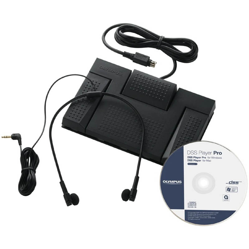 Image for OLYMPUS AS-2400 DIGITAL TRANSCRIPTION KIT BLACK from Office National Capalaba