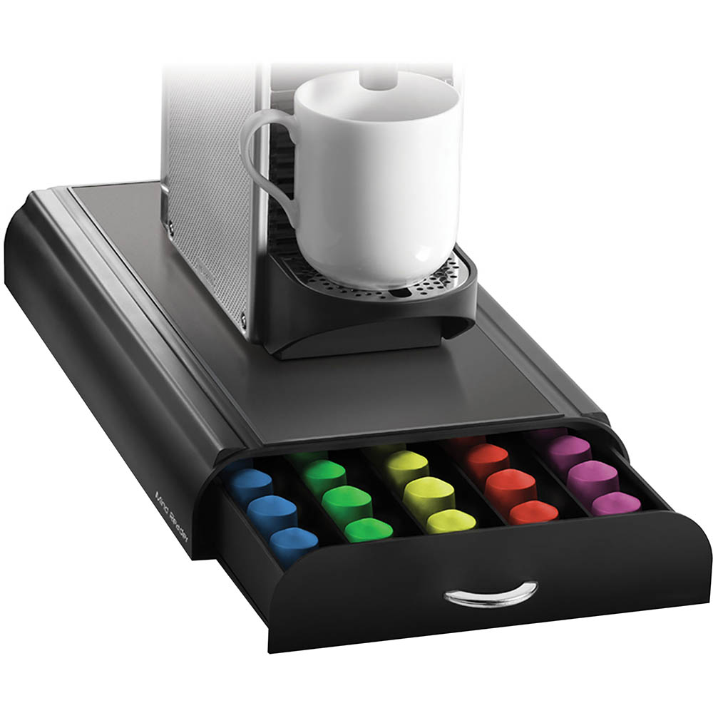 Image for ESSELTE ANCHOR COFFEE POD ORGANISER 1 DRAWER 50 CAPACITY BLACK from Wetherill Park / Smithfield Office National