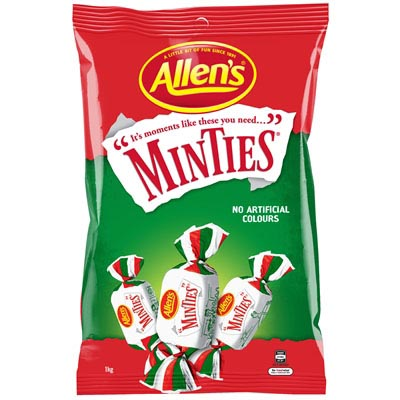 Image for ALLENS MINTIES 1KG from Office National Capalaba