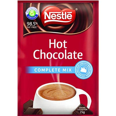 Image for NESTLE HOT CHOCOLATE COMPLETE MIX 25G SACHETS PACK 100 from Wetherill Park / Smithfield Office National