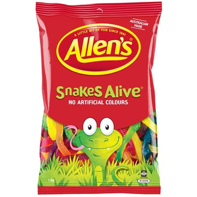 Image for ALLENS SNAKES ALIVE 1.3KG from Office National Capalaba