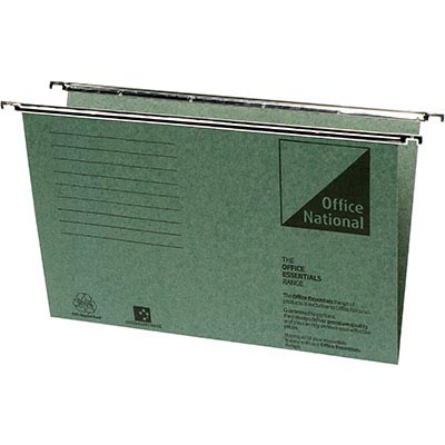 Image for OFFICE NATIONAL SUSPENSION FILES FOOLSCAP GREEN BOX 50 from City Stationery Office National