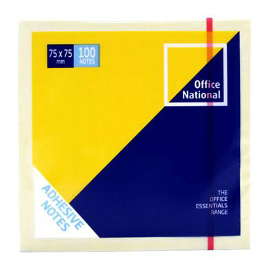 Image for OFFICE NATIONAL PREMIUM NOTES 76 X 76MM YELLOW PACK 12 from Mackay Business Machines (MBM)