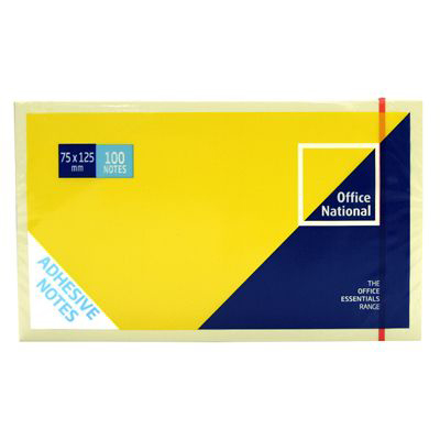 Image for OFFICE NATIONAL PREMIUM NOTES 75 X 127MM YELLOW PACK 12 from Mackay Business Machines (MBM)