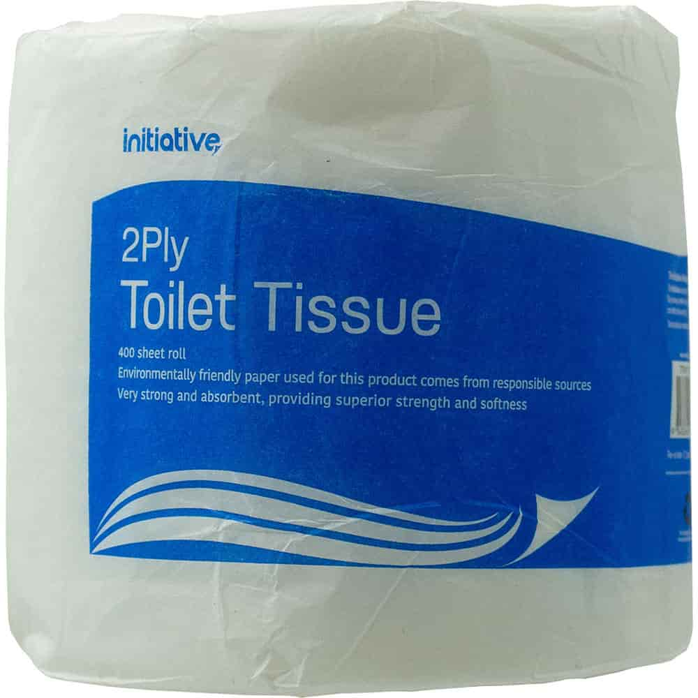 Image for INITIATIVE TOILET TISSUE 2 PLY 400 SHEET ROLL from PaperChase Office National