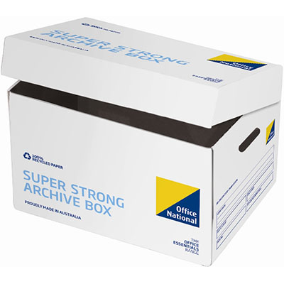 Image for OFFICE NATIONAL SUPER STRONG ARCHIVE BOX from City Stationery Office National