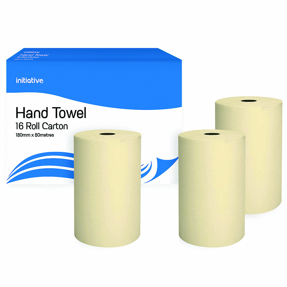 Image for INITIATIVE HAND TOWEL ROLL 180MM X 80M CARTON 16 from Our Town & Country Office National