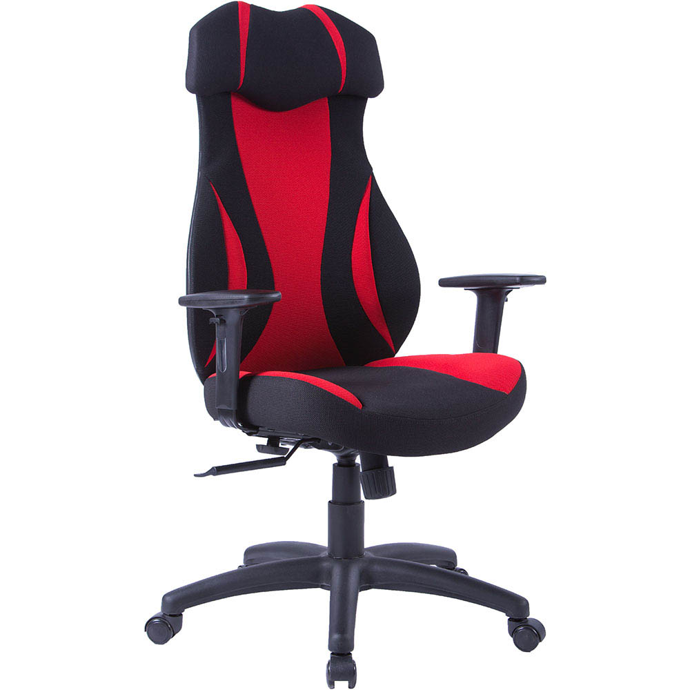 Image for MONZA GAMING CHAIR HIGH BACK ARMS RED/BLACK from OFFICE NATIONAL CANNING VALE, JOONDALUP & OFFICE TOOLS OPD