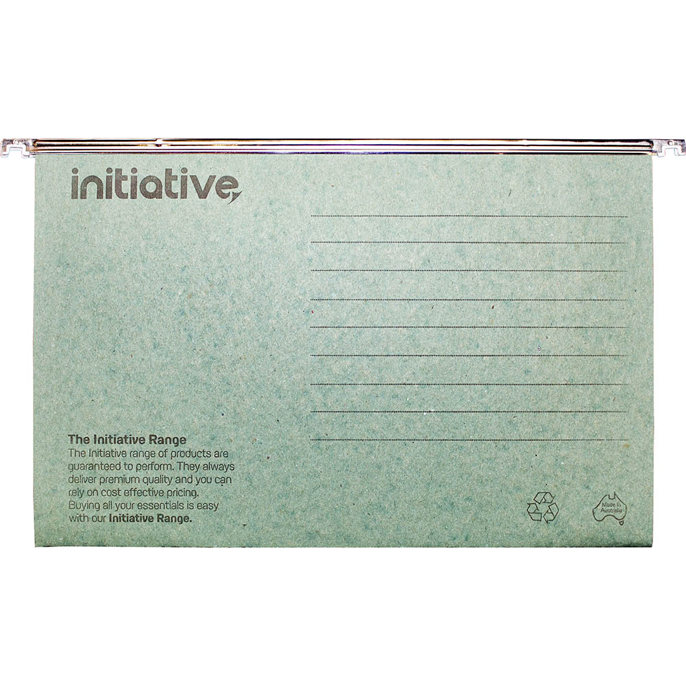 Image for INITIATIVE EASYGLIDE SUSPENSION FILES FOOLSCAP GREEN BOX 50 from City Stationery Office National