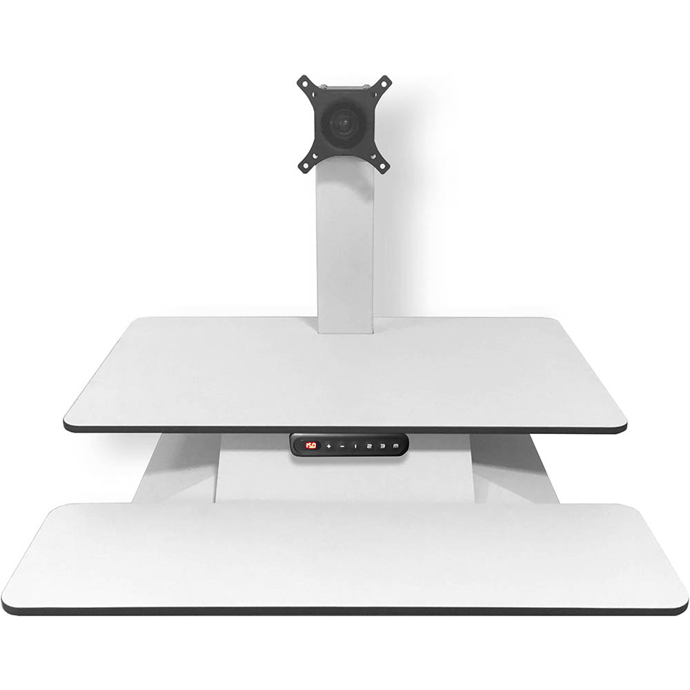 Image for STANDESK MEMORY SIT-STAND WORKSTATION WHITE from Copylink Office National
